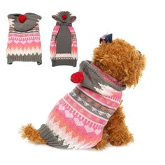 Adarl Winter Warm Clothes Sweater Costume Jacket Coat Apparel With Hat For Pet Dog Puppy * You can get additional details at the image link. (This is an affiliate link and I receive a commission for the sales) #PetCats