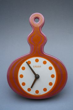 Vintage clock by Kienzle on a ceramic base by RetroMinded on Etsy, €110.00