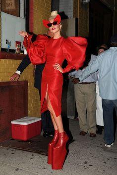 Lady Gaga Versace Couture Show Crystal Mesh Hood (Vogue.com UK)