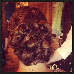 #Bridesmaid #hair #wedding #updo