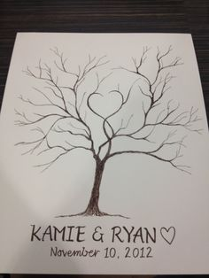 Thumbprint Tree Guest Book by heartandchain on Etsy, $60.00
