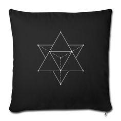 Sacred Geometrie Dreieck Design. Abstraktes Optische Täuschung oder cooles fashion Accessoires? Rechteck-Sechseck Chakra Muste Kunst Geschenke für Goths