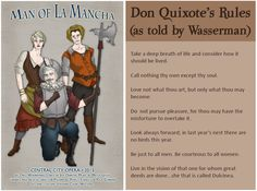 Rules of Chivalry, courtesy of Don Quixote (as told in MAN OF LA MANCHA) - Central City Opera's MAN OF LA MANCHA runs through August 9, 2015. Tickets start at $31. Details at www.centralcityopera.org/lamancha.