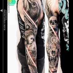Gothic Sad Tattoo Sleeve by Street Tattoo Officiel Skull Tattoos, Sleeve Tattoos, Tatoos, Mens Tattoos, Tattoo Sleeves, Sad Tattoo, Tattoo You, Tattoos For Guys, Cool Tattoos