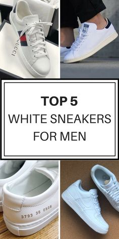 Top 5 white sneakers for every outfit. Save up to on these favorite brands  on Poshmark! Install the app for free   start shopping! Gucci Ace Sneakers  Adidas ... be4885059