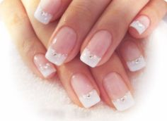 Sunning manicure wedding design short square nails pk20 by DinanNails on Etsy