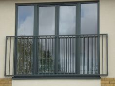 #Aluminium composite french doors for a Juliet balcony