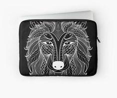 White wolf tattoo Laptop case / Ipad case Laptop sleeve Laptop Case, Ipad Case, White Wolf Tattoo, Telephone, Laptop Sleeves, Wallet, Iphone, Tattoos, Handmade