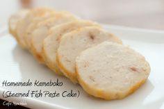 Homemade Steamed Fish Paste Cake (Kamaboko)