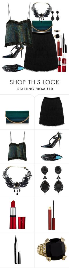 """""""New Year's Party Look"""" by fashion-nova ❤ liked on Polyvore featuring Elie Saab, Oasis, Ashish, L.A.M.B., Givenchy, Essie, Kevyn Aucoin, Marc Jacobs, Judith Ripka and LUMO"""