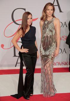 in Monique Lhuillier with the designer and Irene Neuwirth jewelry   - HarpersBAZAAR.com
