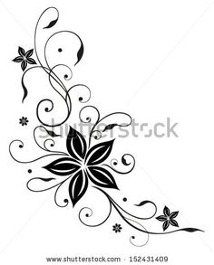 stock-vector-tendril-with-large-black-flowers-152431409.jpg 378×470 pixels