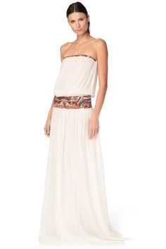 Robe blanche longue ba&sh