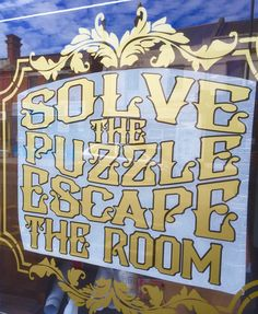 Adding some Victorian Steam Punk Carnival inspired flare to the shop windows at Escape Room Bournemouth