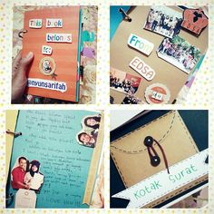 This book will keep your sweet memories. ❤  Wanna this.? Just call me. #scrap #art #paper