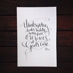 It's almost #Thanksgiving! Yay! I'm so thankful I get to spend today cooking & baking with my family before attending my favorite College Park Church service of the year--Thanksgiving Eve. #bestdayever What are you most #thankful for today? #letsgivethanks #handlettering #calligraphy #annalovestoletter