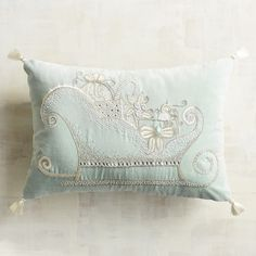 Pier 1 Imports Icy Velvet Sled Pillow ($35) ❤ liked on Polyvore featuring home, home decor, throw pillows, blue, blue throw pillows, pier 1 imports, blue accent pillows, blue home decor and blue toss pillows