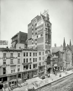 "New Amsterdam Theatre, built in 1903 Exquisite architecture appointments Looking like it just popped up out of the toaster.  Now playing: ""Trilby."" New York, circa 1905 Photo: Detroit Publishing Co.  See later pic of entrance in comments. Today owned by the Disney Company, now showing Aladdin The history of the theater with photos through the ages: https://thishappyplaceblog.com/2011/10/03/king-of-new-york-the-story-of-the-new-amsterdam-theater/."
