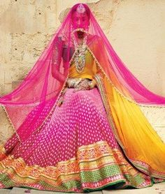 #Pink #Golden #Yellow #LehengaCholi - shoppers99.com