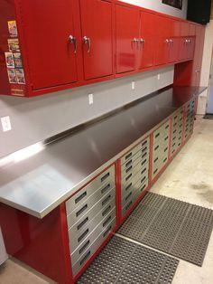 Metal Cabinets for Garage Storage . Metal Cabinets for Garage Storage . Garage Ideas Flooring Cabinets and Storage solutions Made Armoire Garage, Garage Storage Cabinets, Diy Garage Storage, Garage Shelving, Storage Ideas, Wall Storage, Bike Storage, Storage Hacks, Pet Storage
