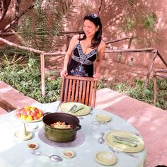 Lunch at a lovely oasis in the middle of the desert, about five hours away from Marrakech. www.travelifemagazine.com