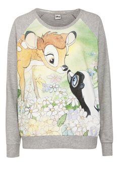 Clothing at Tesco | Disney Bambi Motif Lounge Top > outfit-builder > Nightwear & Slippers > Women