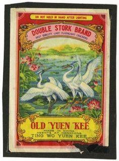 Firecracker Brands   1036: Double Stork Brand Firecracker Label. : Lot 1036