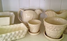 white pottery - all vintage