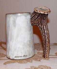 Real Stag Horn German Beer Stein
