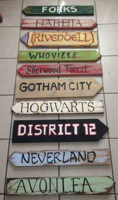 Great garden signs! Hogwarts, Narnia, Rivendell, Neverland... Which one would you be putting up? (Diy Garden Signs)