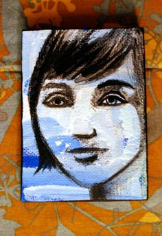 sky portrait bob 1920s flapper woman muse by PaintedValentineArt, $20.00