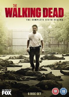 "The Walking Dead: Season 6 (2015) based on the comics by Robert Kirkman and Tony Moore, from Frank Darabont, starring Andrew Lincoln, David Morrissey and Norman Reedus. ""Police officer Rick Grimes leads a group of survivors in a world overrun by zombies."""