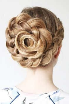 What Is A Rose Braid #updo #braid ❤️ Check out our collection of easy-to-do hairstyles with braids and try to style your hair in a similar way. ❤️ See more: http://lovehairstyles.com/braided-hairstyles-for-spring/ #lovehairstyles #hair #hairstyles #haircuts