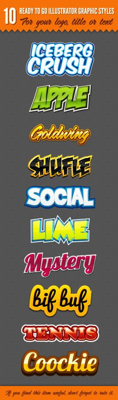 10 Logo Graphic Styles by GraphicDelivery.deviantart.com on @deviantART