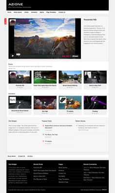 Azione is a neat, structured video blogging theme with a massive view port for your HD videos and photographs.