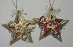 3D Star Ornament 4 by muscrat - Cards and Paper Crafts at Splitcoaststampers