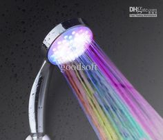You can do one color at a time or....RAINBOW!!!! NEW ROMANTIC 7COLOR LED SHOWER HEAD LIGHTS HOME WATER BATHROOM BATHTUB SINK