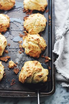 Save this bite-sized baking recipe to make a batch of Banana Bread Scones, perfect for on-the-go breakfast.