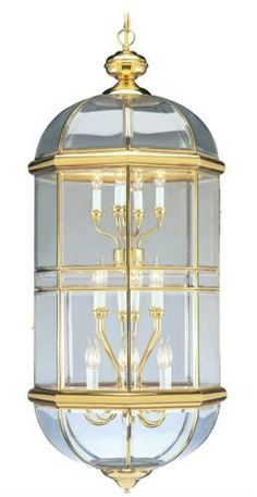 Belaire Chandelier (LVX-4095-02). Belaire - Chandelier - Polished Brass - 20.5 x 48 Product Specifications Fixture Type Chandelier Collection Home Basics Finish Polished Brass Glass Clear Beveled Dimensions 20.5 x 48 Wattage 18x40W Cand Base Weight.. . See More Chandeliers at http://www.ourgreatshop.com/Chandeliers-C1008.aspx