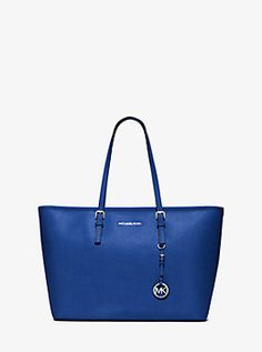 e6ad4ca837 Jet Set Travel Medium Saffiano Leather Top-Zip Tote by Michael Kors Michael  Kors Tote
