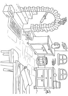 Coloring page house - interior - coloring picture house - interior ...