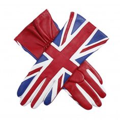 union jack leather gloves