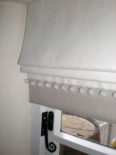 Natural linen roman blinds