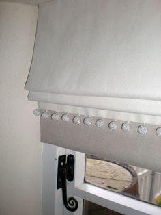 Natural linen roman blinds