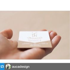 """#Repost @aucadesign with @repostapp.・・・Letterpress business cards designed for the """"videographers team"""" @2b1yourweddingvideo (follow their work!) and printed by amazing @shhhmydarling. I'm so happy! This is only a preview  #aucadesign #businesscards #graphicdesign #letterpress #graphicdesigner #printdesign #graphic #branding #logo #logodesign #brand #papergoods #identity #visualidentity"""
