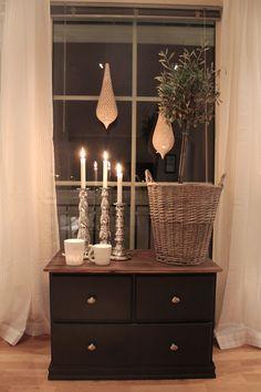 Lindevegen: DIY chest of drawers Decorating With Pictures, Home Decor Pictures, Decorating Ideas, Diy Chest Of Drawers, Home Candles, Happy Sunday, Scandinavian Design, Farmhouse Decor, Modern Farmhouse