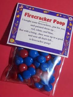 Firecracker Poop for Fourth of July!!