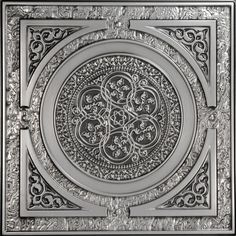 The Steampunk movement creatively blends elements of modern technology, science fiction, and Victorian fashion. Our 225 Steampunk faux tin drop - in ceiling tile is a fun tribute to the Steampunk styl Faux Tin Ceiling Tiles, Tin Tiles, Wall Tiles, Ceiling Grid, Ceiling Panels, Ceiling Coverings, Porch Ceiling, Bedroom Ceiling, Bedroom Decor