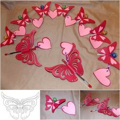 Creative Ideas – DIY Pretty Kirigami Butterfly Postcard from Template