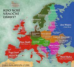Mapa bizarných pomenovaní Ježiška